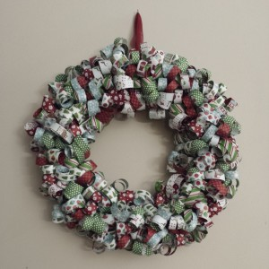 Christmas Curled Paper Wreath