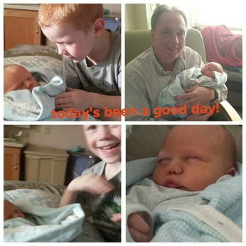 Bubs and Papa meet the baby!