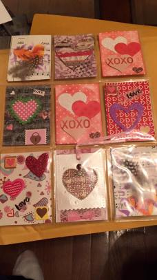 Art Trading Cards - Can you tell which ones I made? It's the triple heart in the center.